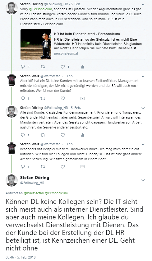 Twitter Diskussion