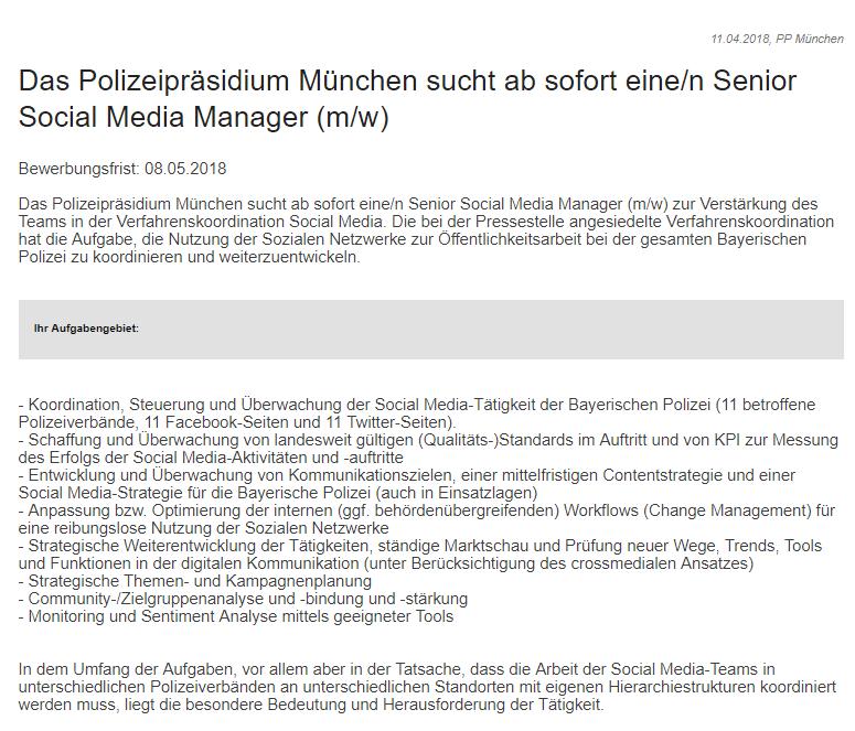 Senior Social Media Manager (m/w) 1/4