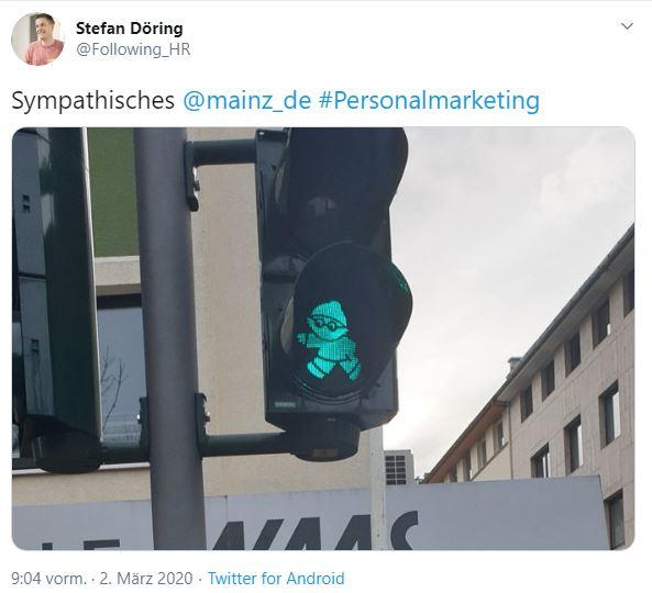 Tweet Active Sourcing Mainz